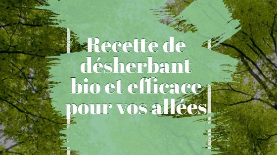 le désherbage écologique
